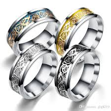 couples jewelry rings images Titanium stainless steel dragon pattern rings luxury nibelungen 39 s jpg