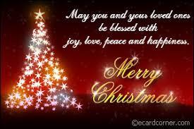 merry chrstmas blessings greetings ecardcorner
