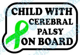 cerebral palsy ribbon with cerebral palsy on board green ribbon