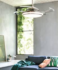fanaway evo1 prevail brushed chrome ceiling fan with clear