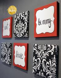 Chef Kitchen Decor Sets Red And Black Damask Eat Drink Be Merry U201cchef U201d Wall Decor Set