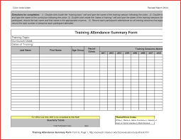 best of attendance list template word excuse letter