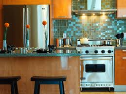 Green Glass Backsplashes For Kitchens Kitchen Delectable Small Kitchen Decoration Using Blue Green