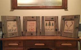 handmade barn wood look frames set of 4 8x10 rustic decor