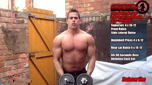 best dumbbell workout my home shoulder workout to build