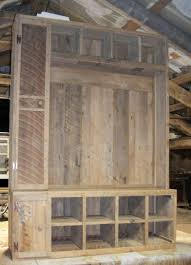 barn wood hall tree before hooks or finish applied for the home