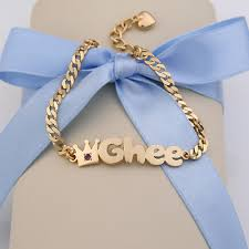 infant name bracelet baby bracelet and necklace just another site