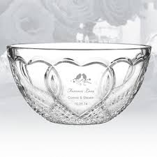 personalized bowl 200 499 waterford wedding bowl personalized gift crystalplus