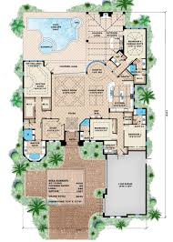 How Many Square Feet Is A 3 Car Garage by Mediterranean Style House Plan 4 Beds 4 50 Baths 6035 Sq Ft Plan