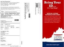 the pocomoke eye virginia voter registration cards to be