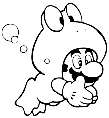 printable coloring pages mario bros video games video games