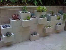 concrete block landscaping ideas backyard fence ideas