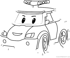 cars connect dots printable worksheets