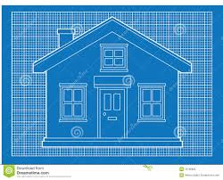 blue print house blueprint of simple house plan blueprints royalty free stock photo