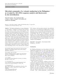 microbial community of a volcanic mudspring in the philippines as