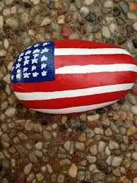 Painting A Flag Painted Rock Flag Painted Rocks Pinterest Flags Rock And