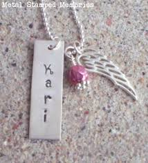 remembrance necklace memorial necklaces and remembrance keepakes metal sted memories