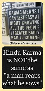 1 minute bible notes hindu karma
