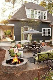 Patio With Firepit Patio Idea I Like This One Home Pinterest Patios Bonfires