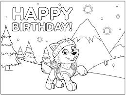 birthday coloring sheets paw patrol birthday