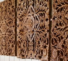ornate carved wood panel wall set of 4 pottery barn