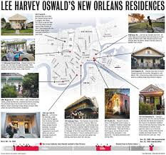 Garden District New Orleans Walking Tour Map by The Geography Of An Assassin Seeking Out Lee Harvey Oswald U0027s New