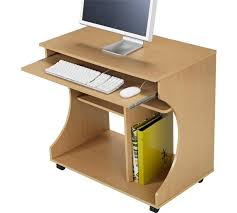 Beech Computer Desk Buy Home Curved Computer Desk Trolley Beech Effect At Argos Co