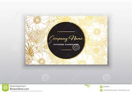 business card gold floral frame stylish golden premium luxury