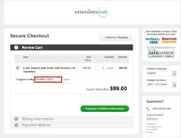 offer discounts and promo codes how to redeem a promotional code at extensionsmall