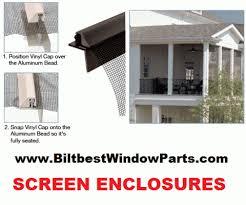 Screens For Patio Enclosures Patio Enclosure Parts For Screening Screen Room And Screen Porch