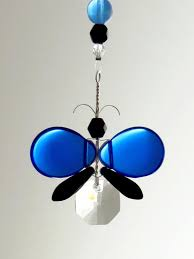 blue black butterfly ornament suncatcher mobilesuncatchers
