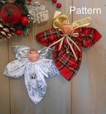 pdf e pattern christmas angel ornament 92 primitive raggedy