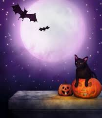 Halloween Backdrop Children Scenic Photography Background Attractive Candles Pumpkins