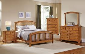 Forsyth Arched Bedroom Set Medium Oak Vaughan Bassett - Discontinued bassett bedroom furniture