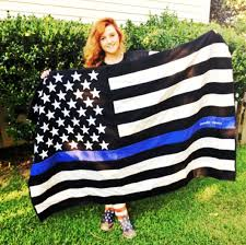 Flag Of Turkmenistan Thin Blue Line American Flag Quilt Police Officer Thin