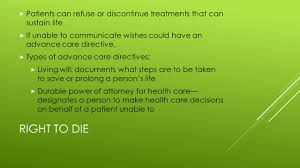 Durable Power Of Attorney For Health Care Decisions by Laws U0026 Ethics In Health Care Rights Health Care Providers Are