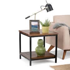 wayfair com end tables simpli home skyler dark cognac brown end table 3axcsky 03 the home