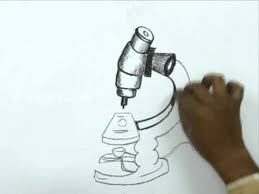 how to draw a microscope youtube