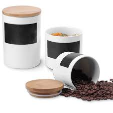 airtight kitchen canisters amazon com sweese porcelain canisters airtight bamboo lid
