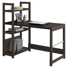 Espresso Desk With Hutch Folio Bookshelf Styled Desk Black Espresso Corliving Target