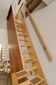stylish retractable stairs design 27 really cool space saving