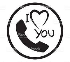 i love you phone icon stock vector art 672029484 istock
