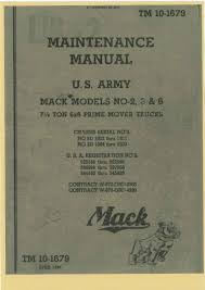 mack paperprint wwii military vehicle manuals