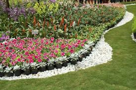 beds with rock borders
