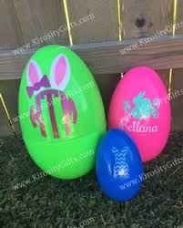 personalized easter eggs jumbo personalized plastic easter egg large custom by solanagifts