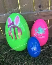 jumbo plastic easter eggs jumbo personalized plastic easter egg large custom by solanagifts