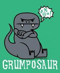 Funny Dinosaur Meme - grumposaur shared by meme market on we heart it