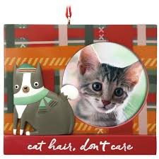 festive feline cat picture frame hallmark ornament gift