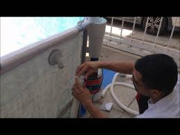 Intex Pool Frame Parts How To Put A Metal Frame Pool And Filter Pump Together Full Video