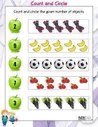 nursery math worksheets page 2